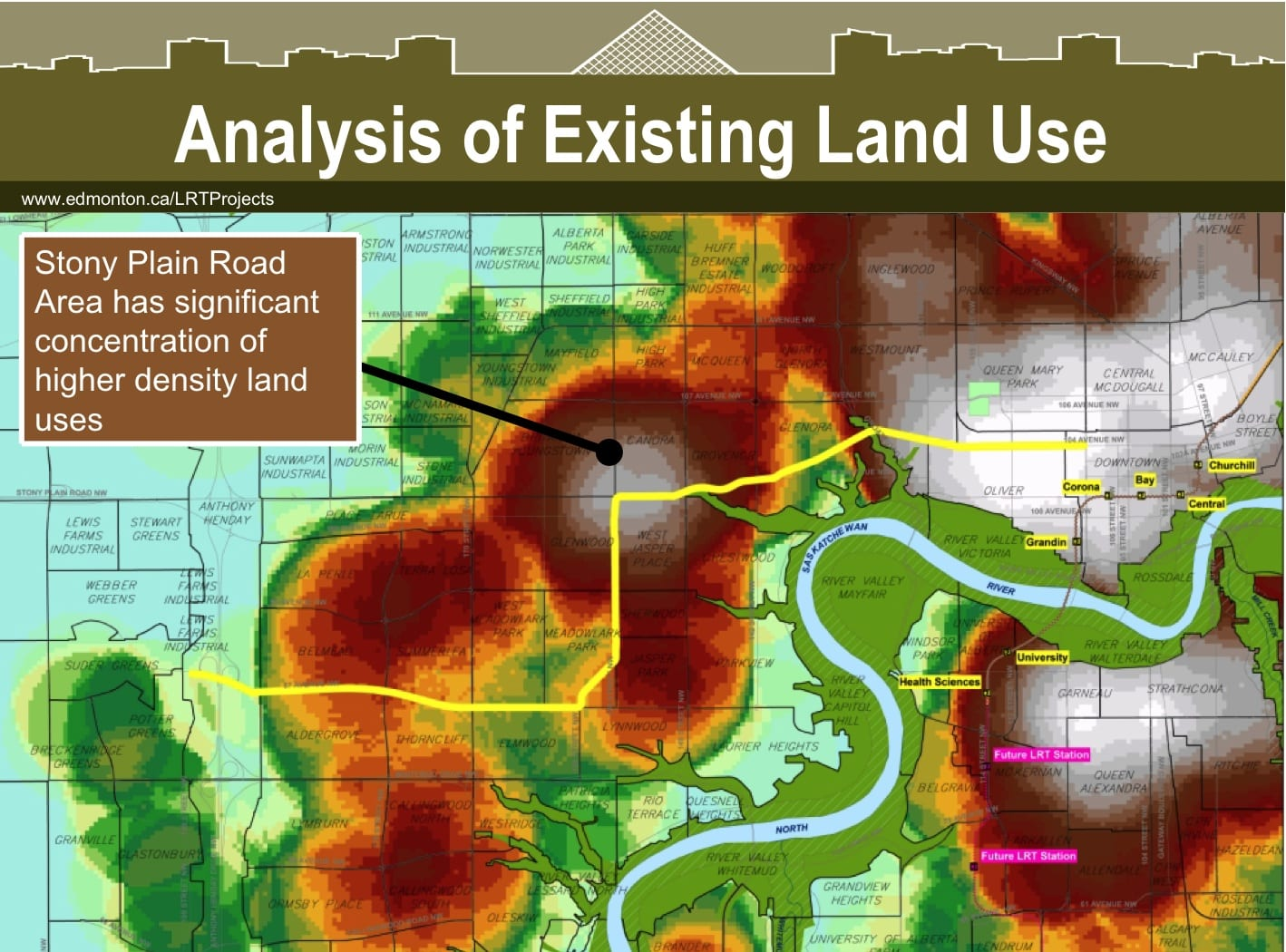 WLRT existing land use intensity